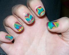 marbled nail art 2