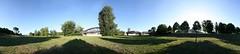 Elbwiesen - 360° (diwan) Tags: park city bridge trees shadow panorama green nature canon germany geotagged deutschland eos place stitch cathedral natur meadow wiese magdeburg stadt grün landschaftspark schatten baum panoramix 360° morgens inthemorning 2011 saxonyanhalt sachsenanhalt rotehorn canoneos450d microsoftimagecompositeeditor spivpano geo:lon=11637898 geo:lat=52120224