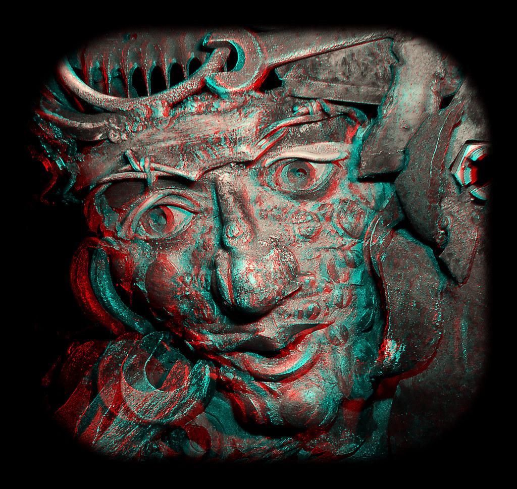 """Detail from """"Iron Star"""" sculpture, Hill City, South Dakota.  anaglyph 3D"""