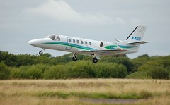 M-WOOD (goweravig) Tags: uk swansea wales airport aircraft visiting cessna citation cessna550 citationbravo horizonaircharter mwood mojmw