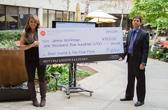 Jenna winner (Robert E. Kennedy Library at Cal Poly) Tags: jenna students doug awards atrium winners calpoly 2014 kennedylibrary pitchperfect videocompetition