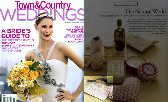 Smock's Kurai letterpress favor tag in Town & Country Weddings!