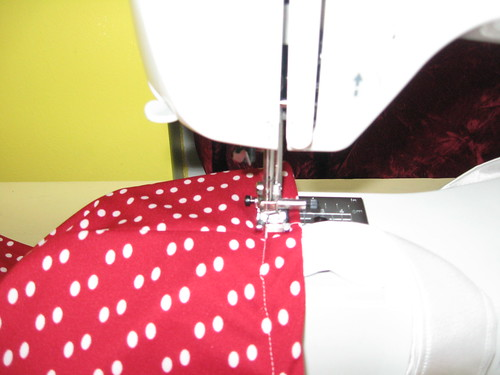 Topstitch around the top