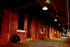 Lonely Night (markofphotography) Tags: selfportrait delete10 delete9 delete5 delete2 delete6 delete7 northcarolina delete8 delete3 raleigh delete delete4 cobblestone nighttime save1 oldraleigh deletedbydeletemeuncensored