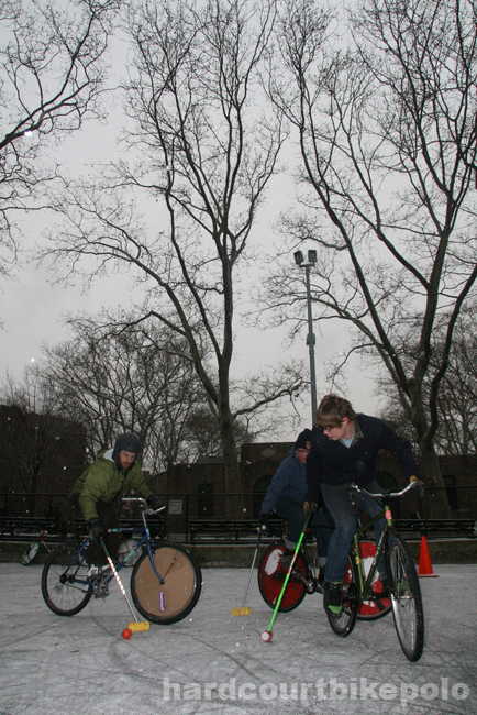 hardcourt bike polo paul johnny lief nyc snow