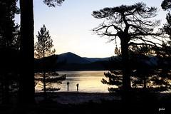 Twilight by the loch (gusia's_world) Tags: lake ice scotland highlands scenery loch lochmorlich aplusphoto