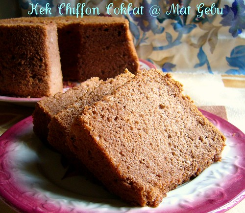 Kek Chiffon Coklat