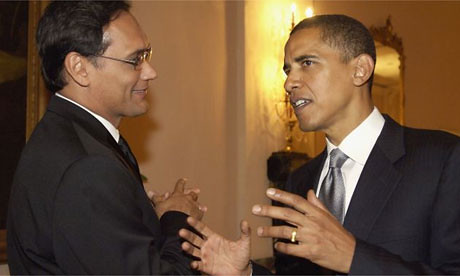 Jimmy Smits (The West Wing's President Santos) with President Obama