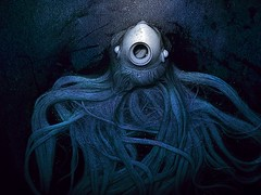 Cthulhu Barbie Head.. (Sea Moon) Tags: monster doll underwater head barbie squid lovecraft octopus seacreature