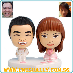 Custom Caricature Mini Big Head Wedding Couple Doll