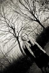 Irina (Ovidiu H.) Tags: park portrait bw woman tree beauty blackwhite romania february bucharest irina tamron2875f28 nikond80