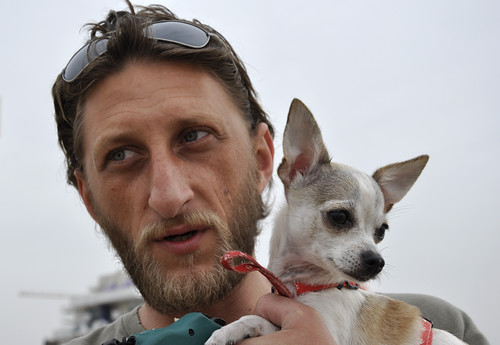 Dima and his toy terrier Ducia