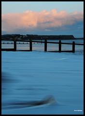 Blue and Pink (Frog n fries) Tags: pink blue sea sky water clouds evening wave devon groynes dawlishwarren bej colourartaward solofotos