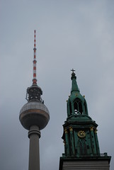 Fernsehturm & Church Tower (dts1013) Tags: berlin nikon fernsehturm hermann jrg d60 henselmann streitparth