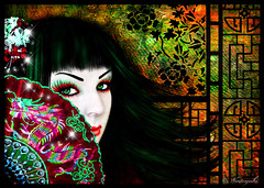 Geisha (Naitoyuki4444710) Tags: naitoyuki larme de lune heechul super junior suju petals illustration goth photography larcenciel hyde vamps ainafetse pics web blogger banner wallpaper logo pink rainbow paris spain art anime manga japan asia oriental visual kei