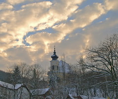 Church on the Hill in Winter, Dubravka (johan.pipet) Tags: old winter light sky snow history church clouds canon eos europe slovensko slovakia tamron palo bratislava hdr bartos dubravka kostol topshots 400d eos400d dbravka theperfectphotographer skyascanvas barto