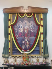 Altar at Chaithanya Bharathi Mandir