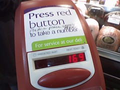 "The ""get a number"" machine at the Stop & Shop Deli."