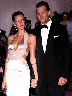 Gisele Bundchen with Tom Brady