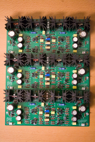 three channels of beta 22 boards