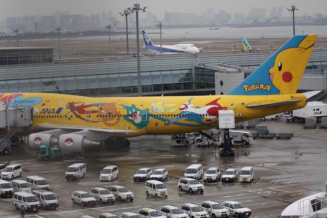 Avión Aerolínea ANA Pokémon Pikachu 3