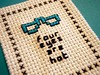 Four eyes are hot! (Stitch Out Loud) Tags: four glasses crossstitch craft stitchoutloud