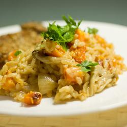 Butternut Squash & Mushroom Risotto