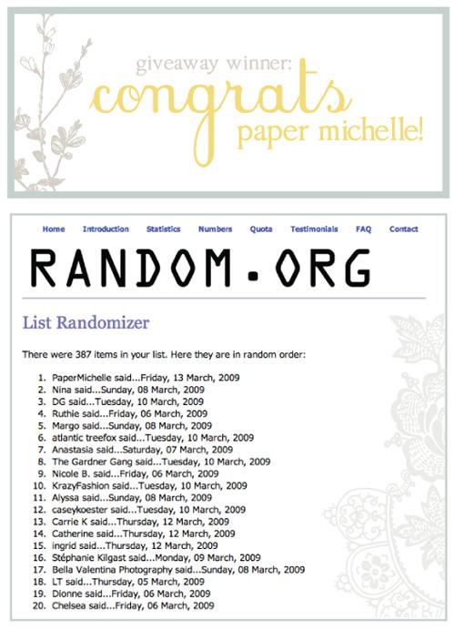 giveaway: congrats
