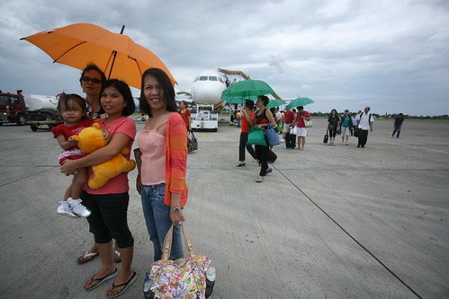by the Davao City airport tarmac