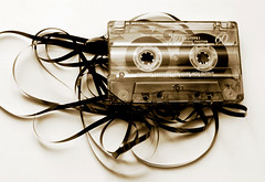 cassette tape (Scott Valentine Presents) Tags: music reflection broken disco mono mess pattern chaos player retro pump stereo tape sound speaker mirrored symmetric cassette audio hifi spitting magnetic rewind unwound eject listen tapeplayer tangled spewing unraveled fastfoward