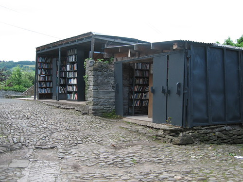 Books in every shed, Hay-on-Wye. Wales