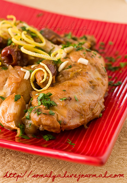 Chicken with sherry & dates