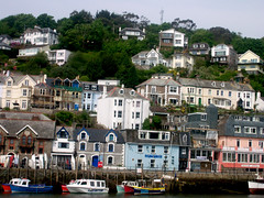 View of Looe in Cornwall (Dynamicus) Tags: landscape boats cornwall view harbour looe