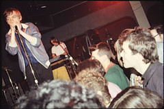 Jello Biafra watches Mark E. Smith as The Fall Tours America, 1981, IBeam, San Francisco. (p0ps Harlow) Tags: sanfrancisco 1981 thefall biafra jellobiafra ibeam markesmith p0ps