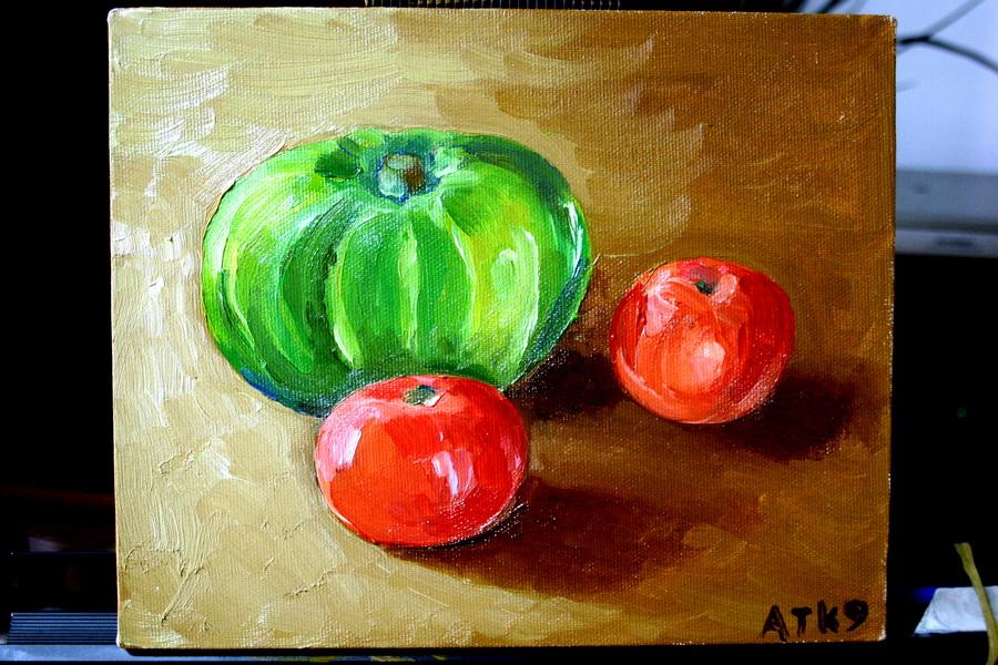 Pumpkin & tomatoes