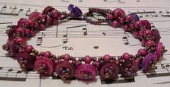 purple button embellished right angle bracelet (randomcreative) Tags: fun purple jewelry embellishment bracelet etsy simple rightangleweave beadweaving plasticbuttons buttonclasp beadwoven offloom randomcreative