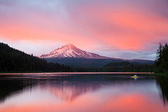Trillium Lake - 2 (Jesse Estes) Tags: sunset oregon mounthood trilliumlake ostrellina jesseestesphotography