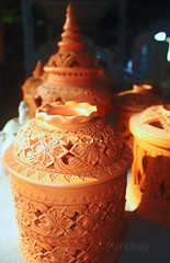 Thai texture (Puykamo@Tai) Tags: trip travel beautiful thailand lights tour handmade thai pottery neat nonthaburi   kohkret  puykamo thaiproduct  thaipottery thaitexture