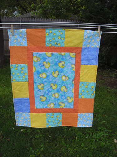 Baby Duck Quilt - Front Detail