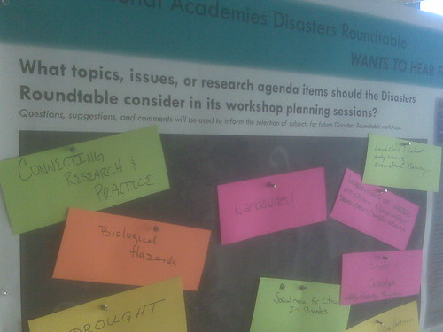 National Academies Poster At Natural Hazards Workshop by you.