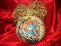 victorian style christmas ornament (ladamaja'sartcorner) Tags: art vintage handmade victorian craft romantic montenegro beautifull decoupage cristmass