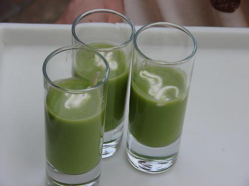 Pea Sips with Crème Fraîche