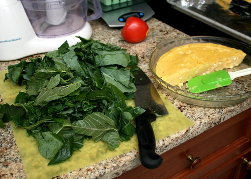 Pan-Fried Polenta with Corn, Greens & Goat Cheese
