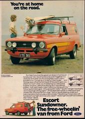 Ford Escort Mk2 Sundowner Panel Van Ad