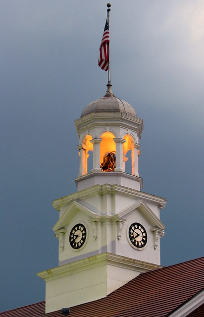 Cannon County Courthouse Clock Tower at Dusk