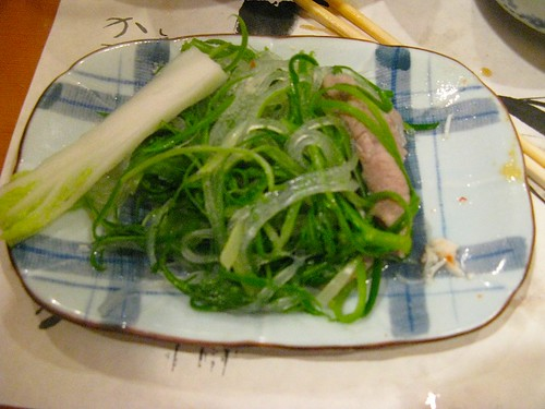 glass noodles, grn onion, crysanthemum