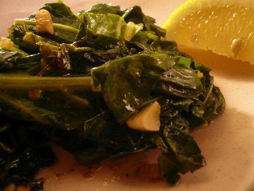 Collard greens with double garlic