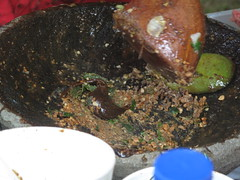 then add some shrimp paste