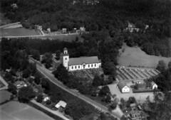1961 Flygfoto över Tving, nr 402 (b/w)