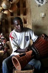 Drummer in Ouagadougou